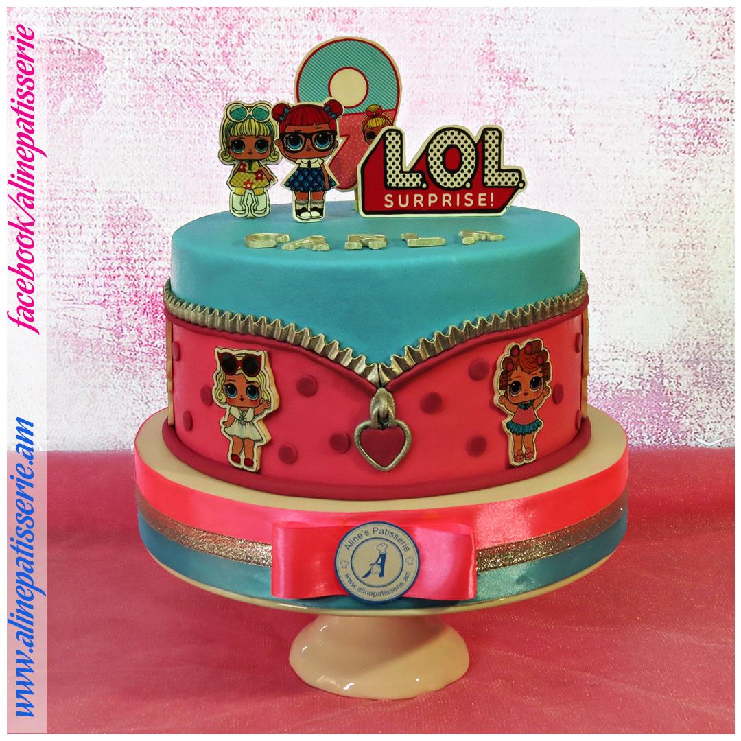 Tremendous Lol Surprise Dolls Birthday Cake Alines Patisserie Birthday Cards Printable Riciscafe Filternl